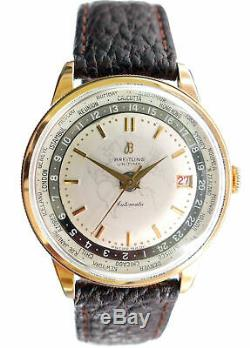 1955 Breitling Unitime World Time Vintage Automatic Watch