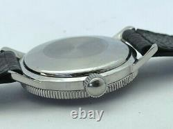 1960's ZODIAC WORLD TIME Gray Matte Dial Automatic Bakelite Bezel GMT 752 934