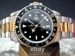 1995 Steel & 18ct Gold Rolex Oyster GMT Master II 16713 B & P Investment Watch