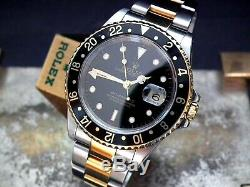 2000 Steel and Gold Rolex Oyster GMT Master II 16713 Full Set Investment Watch
