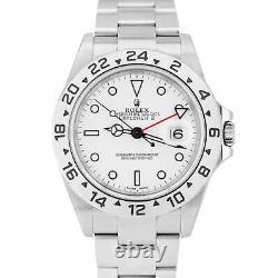 2005 UNPOLISHED Rolex Explorer II Polar White No Holes 40mm GMT 16570 Date Watch