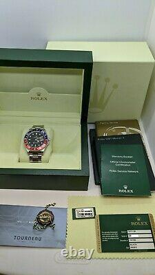 2007 Rolex GMT-Master II 16710 BLRO Pepsi Steel Automatic Watch Box & Papers