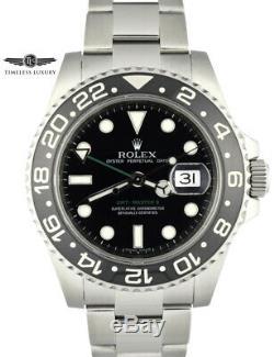 2008 Men's Rolex GMT-Master II 116710LN Stainless 40mm Black Ceramic Bezel MINT