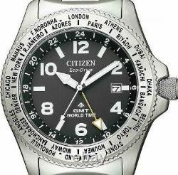 2019 New! CITIZEN PROMASTER LAND BJ7100-82E GMT Solar Eco Drive Men's Watch