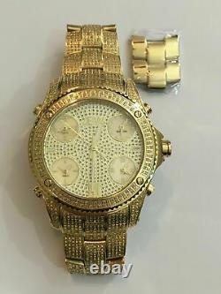 $2165 JBW Men's Luxury Jet Setter 2.34 CTW Diamond Watch Stainless JB-6213-A