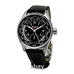 Alpina Men's Startimer Pilot World Timer Swiss Automatic 44mm Watch AL-718B4S6