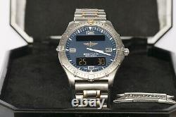 Authentic Vintage BREITLING AEROSPACE F65062 Titanium and 18k Gold Plated Watch