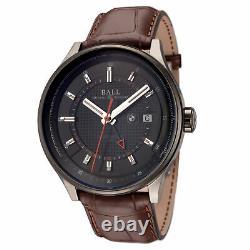 BALL Men's GM3010C-L1CJ-BK BMW GMT 42mm Black Dial Leather Watch