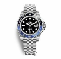 BRAND NEW 2019 Rolex GMT Master II Batman Black Blue SS 126710 BLNR Stickered