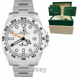 BRAND NEW 2020 Rolex Explorer II 42mm White Orange Steel GMT Date Watch 216570