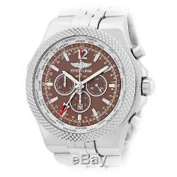 BREITLING 49mm Stainless Steel Bentley GMT Chronograph A47362 Box Warranty