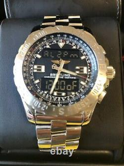 BREITLING Airwolf SuperQuartz 43mm Graphite Dial, Full Set, A78363