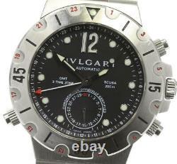 BVLGARI Diagono SD38S GMT date black Dial Automatic Men's Watch 577920