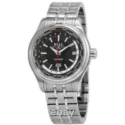 Ball Trainmaster Worldtime Automatic Chronometer Men's Watch GM2020D-S1CJ-BK