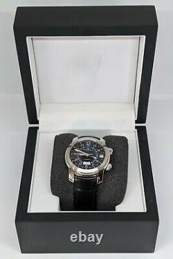 Baume & Mercier Capeland GMT Alarm Automatic Blue M0A08084 Girard Perregaux