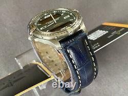 Breitling Aerospace E65062 Chronograph Titanium + Breitling Blue Leather Strap