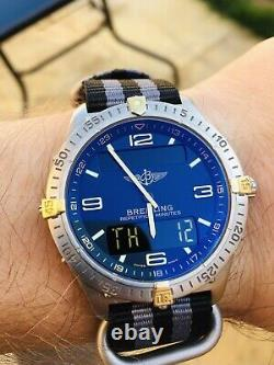 Breitling Aerospace F65062 Repetition Minutes New Battery Blue Dial