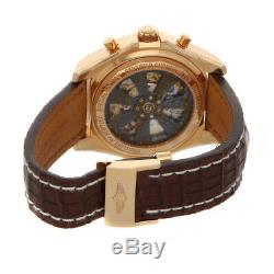 Breitling Bentley B04 GMT Auto Rose Gold Mens Strap Watch RB043112/G775
