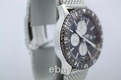 Breitling Chronoliner 46mm Stainless Steel Ceramic Bezel Watch Refy2431033/q621