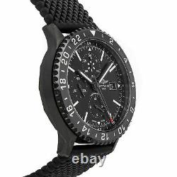 Breitling Chronoliner Auto Blacksteel Mens Strap Watch Date GMT M2431013/BF02