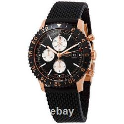 Breitling Chronoliner Chronograph Quartz Chronometer Black Dial Men's Watch