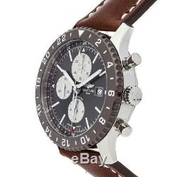 Breitling Chronoliner Steel Ceramic Auto 46mm Strap Mens Watch Y2431033/Q621