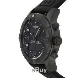 Breitling Exospace B55 Quartz Black Titanium Mens Strap Watch VB5510H1/BE45