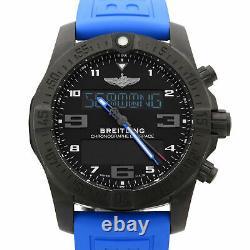 Breitling Exospace Titanium Black Dial Quartz Mens Watch VB5510H2/BE45-235S