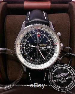 Breitling Navitimer World A24322 Black Dial BOX AND PAPERWORK 2016