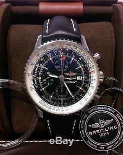 Breitling Navitimer World A24322 Black Dial B&P 2016