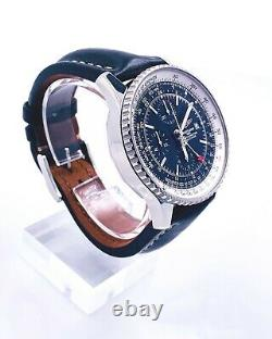 Breitling Navitimer World A24322 Stainless Steel Leather Band Box Booklets