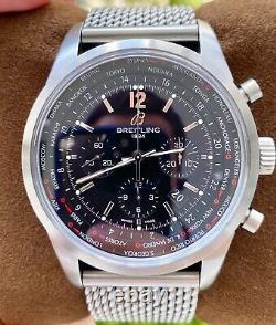 Breitling Transocean Chronograph Unitime Pilot 46 Box $12K MSRP AB0510U6/BC26
