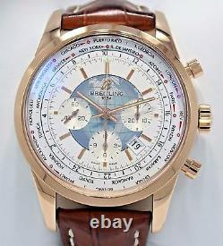 Breitling Transocean RB0510U0/A733 Chrono Unitime 18K Rose Gold B/PAPERS MINT