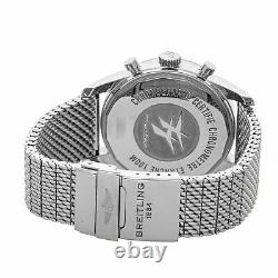 Breitling Transocean Unitime Chrono Auto Steel Men Bracelet Watch AB0510U4/BB62
