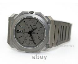 Bulgari Octo Finissimo Extra Thin GMT Chronograph Wristwatch 103068 Titanium