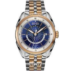 Bulova Accu Swiss Men's Automatic GMT Two-Tone Date Display 42mm Watch 65B163