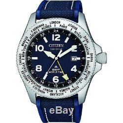 CITIZEN BJ7100-15L Eco-Drive Promaster GMT World Time Diver 200m Men's Watch