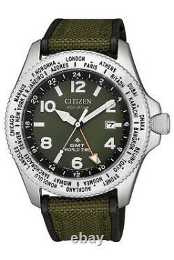 CITIZEN BJ7100-23X Eco-Drive Promaster GMT World Time Diver 200m Men's Watch