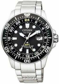 CITIZEN BJ7110-89E Eco-Drive Promaster Titanium GMT World Time Diver Men's Watch