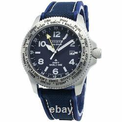 CITIZEN PROMASTER LAND BJ7100-15L Eco-Drive GMT World Time 200M Men Diver Watch