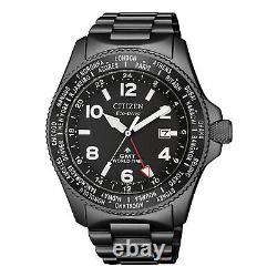 CITIZEN PROMASTER LAND BJ7107-83E Eco-Drive GMT World Time Men's Watch WARRANTY