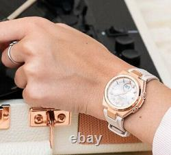 Casio Baby-G Solar 100m Rose Gold Tone Stainless Steel/Pink Resin Watch MSGS200G