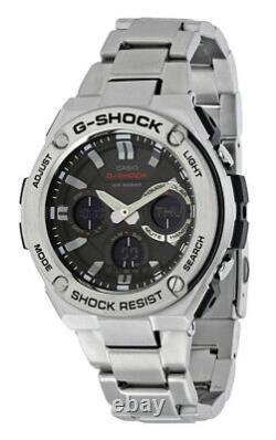 Casio G-Shock Ana-Digi Solar Powered 200m Stainless Steel Watch GSTS110D-1A