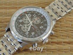 Citizen Gmt Wr100 Eco Drive Chrono Chronograph Deployment Bracelet Watch Box Set