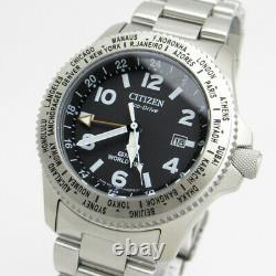 Citizen PROMASTER LAND BJ7100-82E Eco-Drive GMT World Time Men Watch Genuine NEW