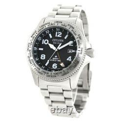 Citizen PROMASTER LAND BJ7100-82E Eco-Drive GMT World Time Men`s Watch Genuine