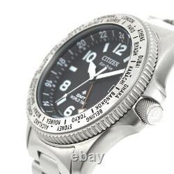 Citizen PROMASTER LAND BJ7100-82E Eco-Drive GMT World Time Men`s Watch Genuine
