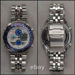 Citizen Promaster JASDF Blue Impulse NaviHawk World Time Watch C300-Q01717 1999