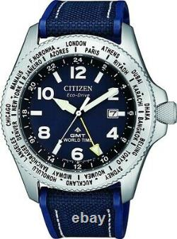 Citizen Promaster Stainless Steel Eco-Drive GMT Watch BJ7100-15L