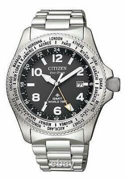 Citizen Watch Promaster Eco Drive LAND Series GMT BJ7100-82E Men's Silver